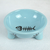 Wholesale New Creative Blue Custom Small Soup Pet Dog Ceramic Bowl