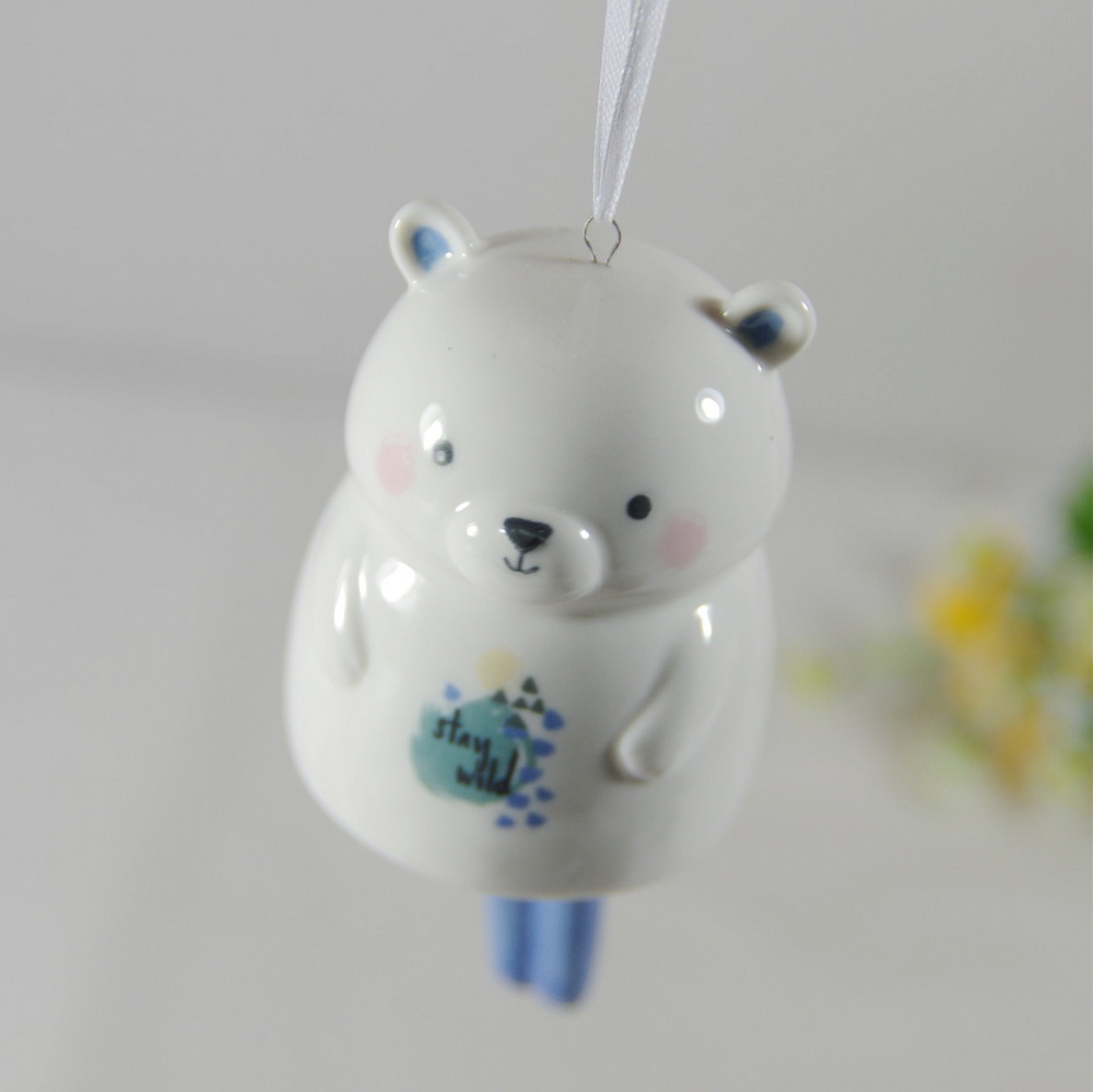 Christmas Bell Ornament Ceramic Bell Hanging Decorations