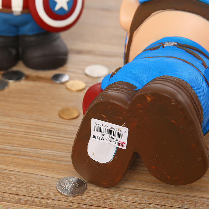 Captain America Wholesale Resin Piggy Bank