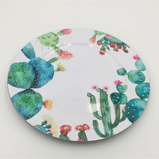 Bulk kitcheware cheap reusable dinner/salad decorative plastic plates