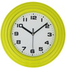 Home Decoration Simple Round Design 10 Inch Cheap Plastic Yellow Color Wall Clock