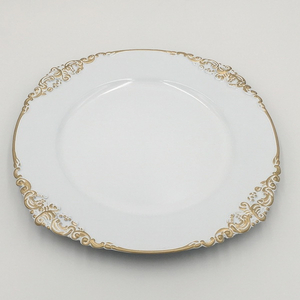 Luxury Plastic Dish Decorative White Plate