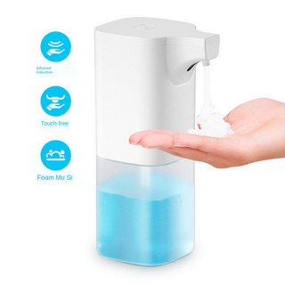 No Touch Transparent Plastic Bottle Auto Hand Wash Automatic Foam Induction Soap Dispenser