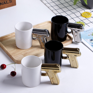 Creative Ceramic Gun Mug / Gun Handle Coffee Mug / Gun Shaped Mug