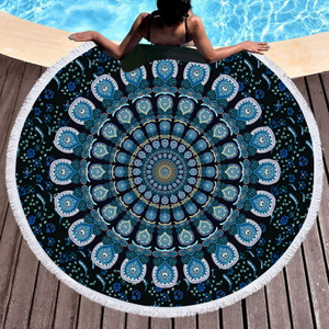 Thick Round Beach Towel Blanket