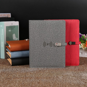Newyes NEW Business Luxury Leather USB Flash Disk Smart Erasable Notebook Diary With Powerbank
