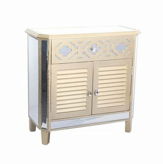 New Arrival Antique Mirrored Chest, Two Doors Mirrored Furniture, Wood Chest Wholesaler