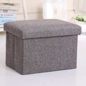 2018 Best-selling PU leather foldable Square Storage Pouffe Chair Ottoman / stool