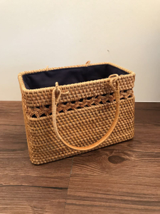 Customization Fashion Handmade Round Weave Rattan Hand Bag Clutches Shoulder Bag