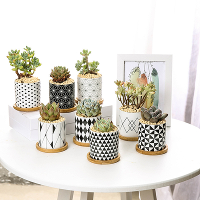 Customized vase decoration round home decor cheap new model modern geometric ceramic flower pot