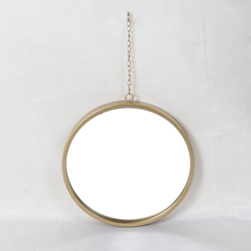 Metal Wall Mirror Frame in Gold Color