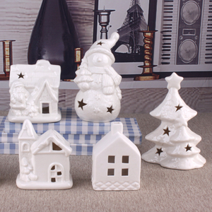 LED Ceramic Christmas Village Houses for Christmas Indoor Decor