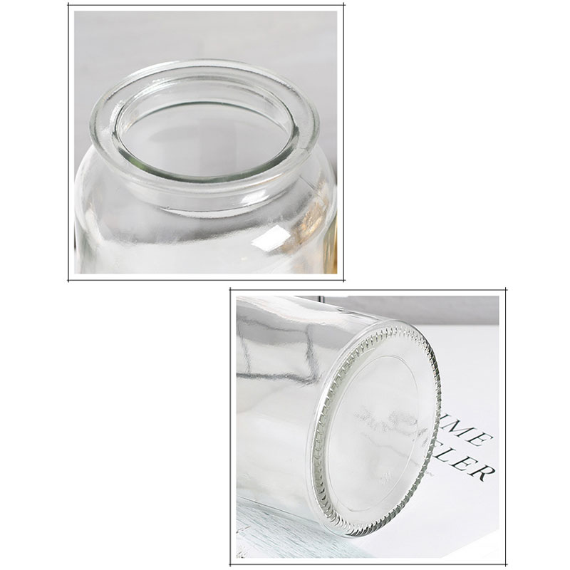 Cylindrical Straight Hydroponic Glass Containers Transparent Glass Vase