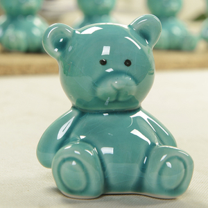 Teddy Bear Coin Bank Ceramic Money Bank