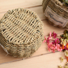 Wholesale Handmade Straw Storage Cheap Belly Seagrass Basket with Lid Low Cost in Vietnam