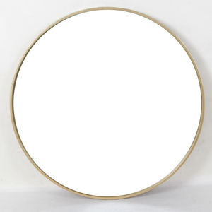European Minimalist Office Study Bathroom Gold Decorative Metal Mirror Wall Decor
