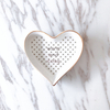 Heart Shape Oh Baby Heart Trinket Dish - Ring Dish - Jewelry Tray