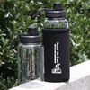 High Quality Customized Unisex Sports Clear 500ml Glass Water Bottle