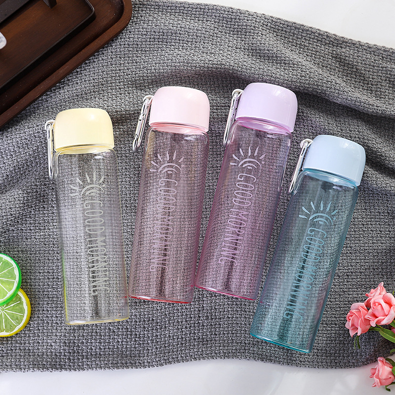Peddy Heat-Resistant Glass Water Bottle Sports Bottle With Colorful Silicone Sleeve Custom Logo
