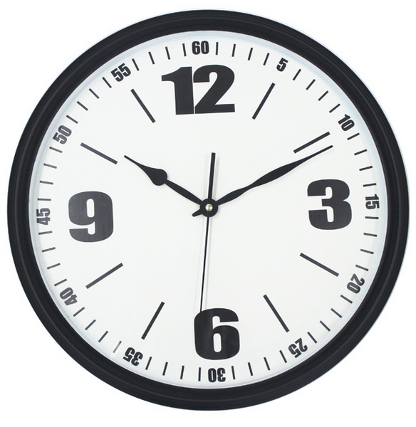 Welcome Oem Logo Plastic Wall Clock From Zhangzhou China