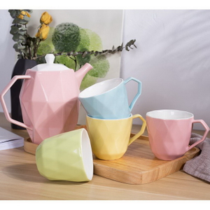 Promotional Custom LOGO Printed Ceramic Tea Cup Set
