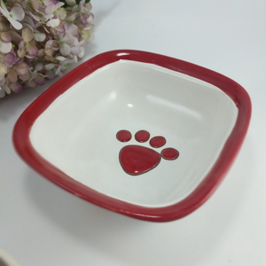High Quality Ceramic Food Bowls for Pets Ceramic Pet Bowl Dog And Cat Shaped Ceramic Cat Bowl