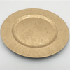 Newest Design Gold Flower Pattern Glass Charger Plates