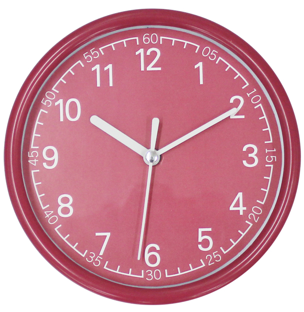Colorful Small Customized Logo Cheap Business Cooperation Gift Wall Clock