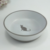 Dry Ceramic Small Round Pet Bowl For Food And Water