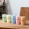 Wholesale Orange And Pink Ceramic Valentine's Gift Ceramic Travel Mug Coffee Mug