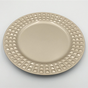 Disposable Set China Rim Plastic Dinner Gold Plate