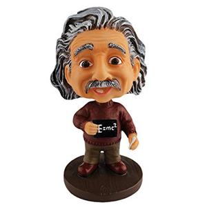 Ming People Cute Einstein Cartoon Bobblehead Doll Toy Car Accessories