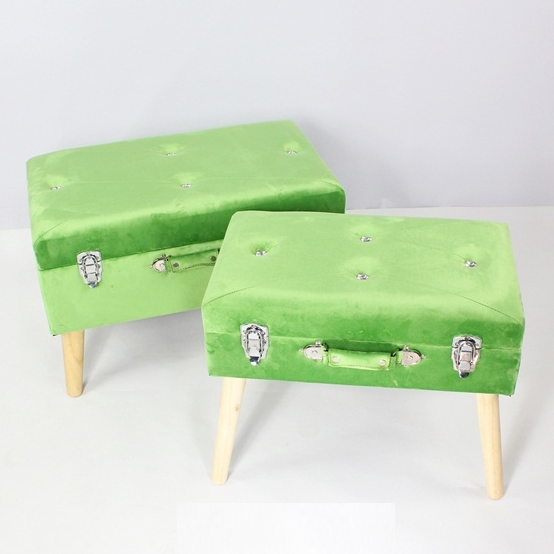 New Design Home Furniture KD Stools Foldable Ottoman Storage Box Storage Ottoman Bench