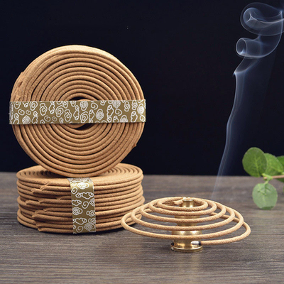 48Pcs/Box Natural Handmade Sandalwood Coils Incense Aromatherapy Maker Spice Antiseptic Refreshing Home Fragrance Teahouse Tools