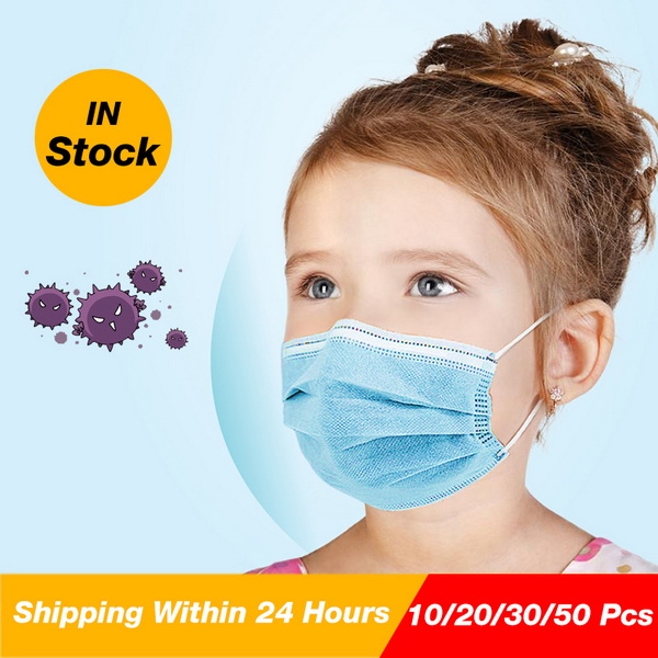 3ply colorful printing disposable nonwoven children face mask