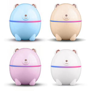 220ML Cute Bear Air Humidifier Fresher USB Charging Aroma Essential Oil Diffuser