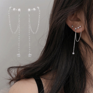Fashion Long Tassel Crystal Earrings Boucle D'oreille Long Drop Earring for Women Fashion Jewelry Gift 2021