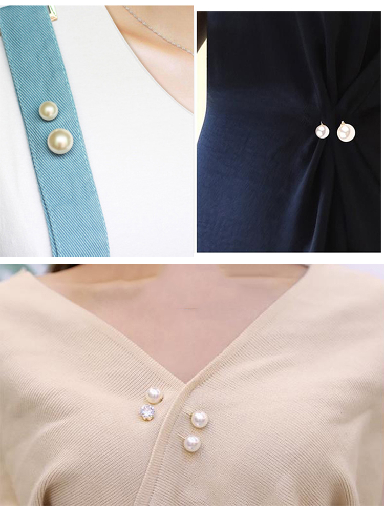 Brooch Set Big Beads Fashion Clothing Brooches for Women Pearl Lapel Pin Sweater Dress Brooch Pins Badge Buckle Accessories