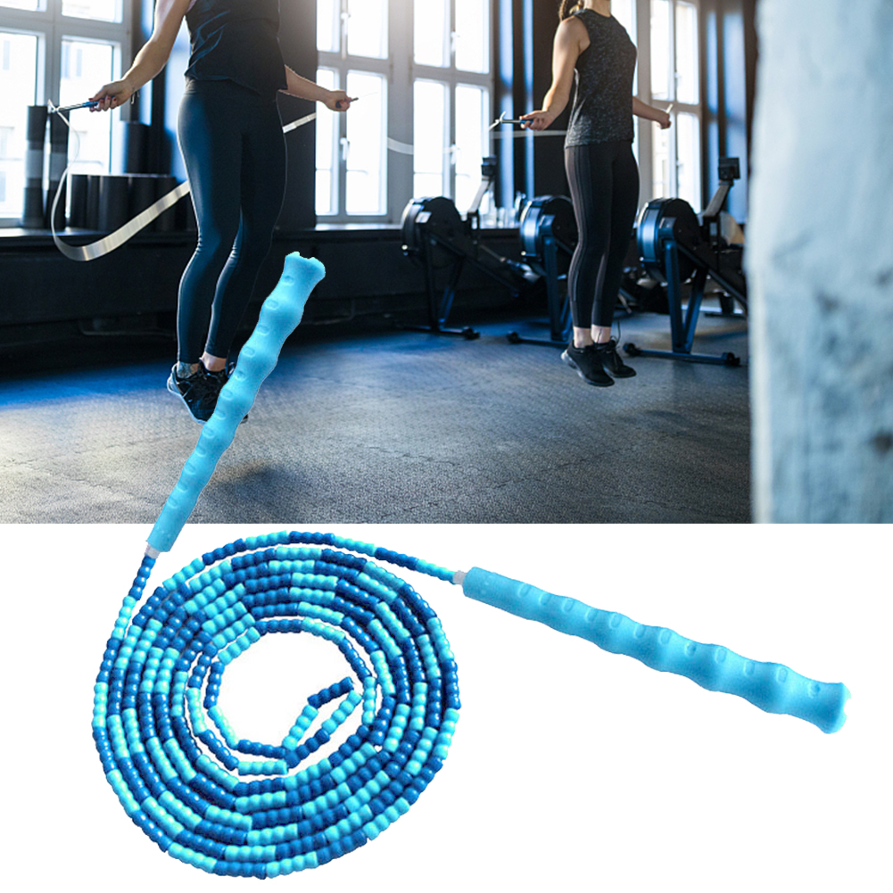 Skipping Rope Yoga Soft Beaded Workout Jumping Non-slip Handle Sports Gym Exercise Fat Burning Fitness Training Segmented
