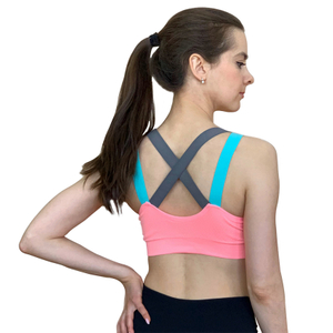 Lovely Push Up Sports Bra XL For Women Cross Straps Wireless Padded Comfy Gym Bra Yoga Underwear Active Wear Workout Fitness Top