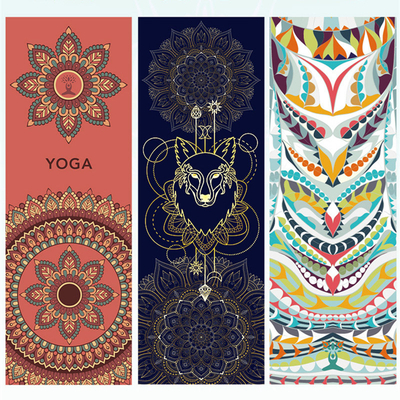 Hot Yoga Mat Towel 185*63cm Printed Yoga Towel Non slip Fitness Workout Mat Cover For Gym Yoga Blankets