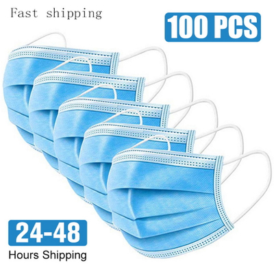 One Box for Sale Breathable Non-woven Masks Dust Mask Three-layer Disposable Mask