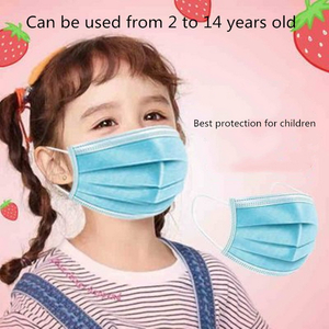 50Pcs/Pack Colorful Disposable Mask Nonwoven Children Outdoor Mask For PM2.5