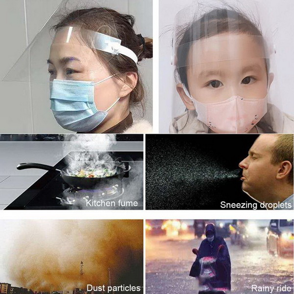 Disposable Face Shields, Customized Logo And Anti-fog