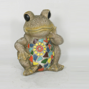 Painted Frog Statue Holy Family Outdoor Statue Ornamental Statue MGO Products