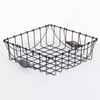 Kitchen Metal Wire Rectangular Vegetable Fruit Stackable Storage Basket