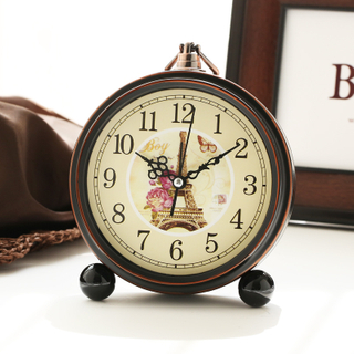 Classic Metal Twin Bell Alarm Clock with Light
