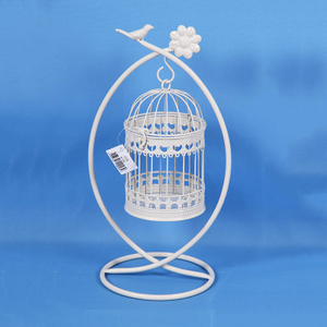 Decorative Rusty Retro Style Bird Cage Metal
