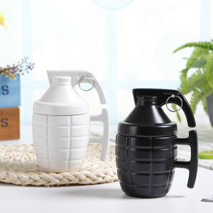 Bomb Design 3D Grenades Shape Green Ceramic Mug for Small Gift