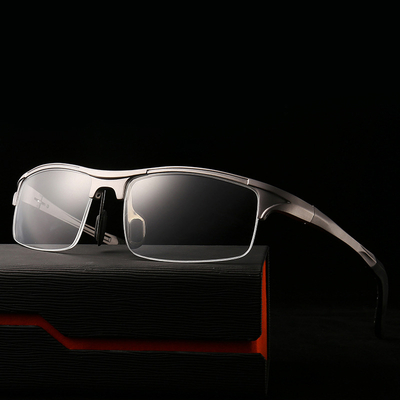 New Half Rim Uv400 Protective Mirrored Custom Branded OEM PC Sunglasses